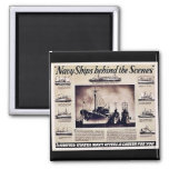 Navy Ships Behind The Scenes Fridge Magnets