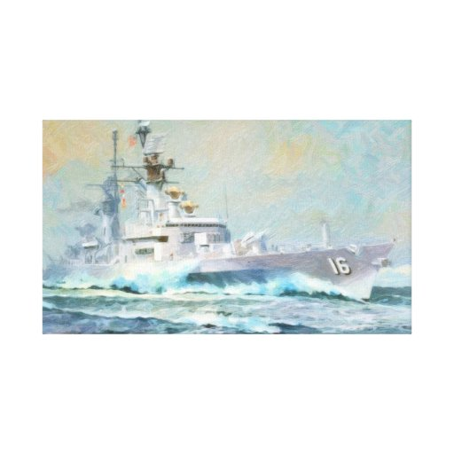Navy ships Oil Painting Poster Canvas Print