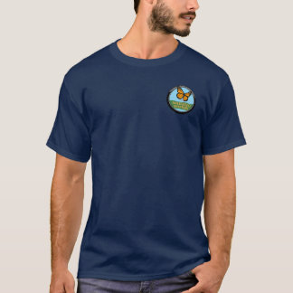 Navy Shirt with Subtle Logo and Text