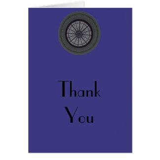 Navy & Silver Modern Thank You Note Greeting Card