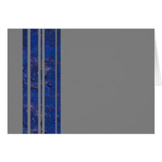 Navy & Silver Stripe Blank Note Greeting Card
