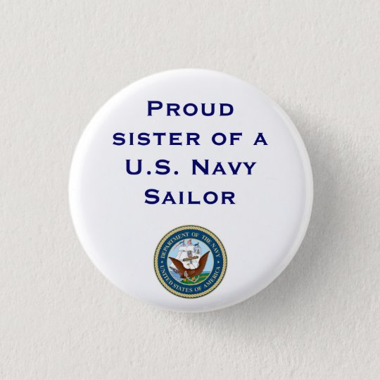 Navy sister 3 cm round badge
