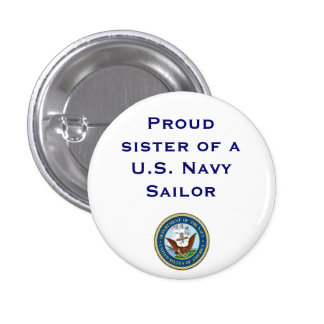 Navy sister 3 cm round badge