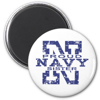 Navy Sister 6 Cm Round Magnet