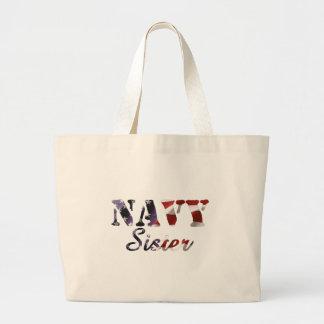 Navy Sister American Flag Bag