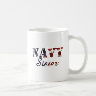Navy Sister American Flag Basic White Mug