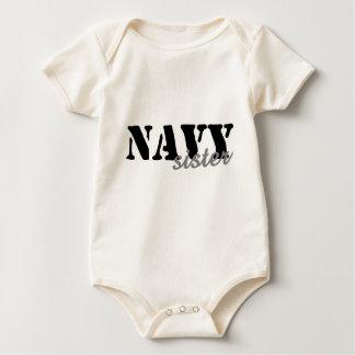 Navy Sister Baby Bodysuits