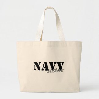 Navy Sister Canvas Bags