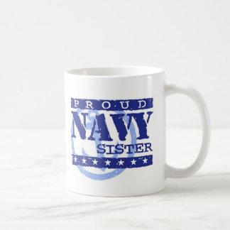 Navy Sister Basic White Mug