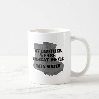 Navy Sister Brother CB Basic White Mug