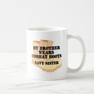 Navy Sister Brother DCB Basic White Mug