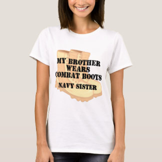 Navy Sister Brother DCB T-Shirt