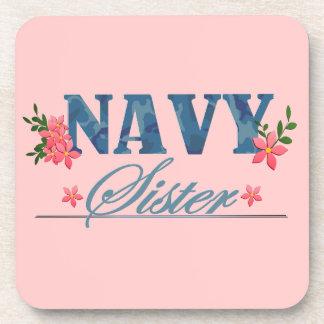 Navy Sister (Cammo) Beverage Coasters