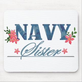 Navy Sister Cammo Mousepad