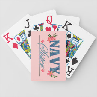 Navy Sister Cammo Playing Cards