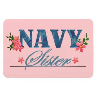 Navy Sister (Cammo) Rectangular Photo Magnet