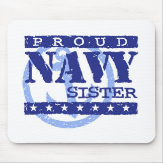 Navy Sister Mouse Pad
