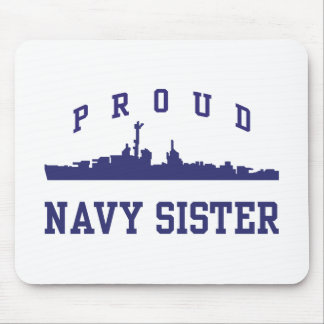 Navy Sister Mouse Pads