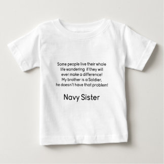 Navy Sister No Problem Brother Tee Shirt