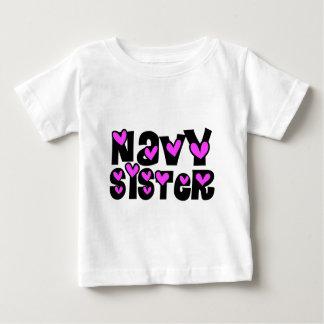 Navy Sister Pink Hearts T Shirts