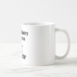 Navy Sister Serve Basic White Mug