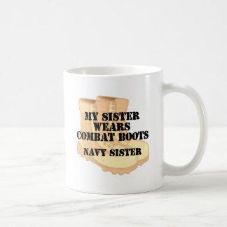 Navy Sister Sister DCB Basic White Mug