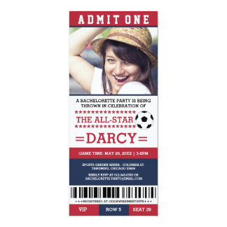 Navy Soccer Bachelorette Party Invites