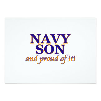Navy Son and Proud of It 13 Cm X 18 Cm Invitation Card