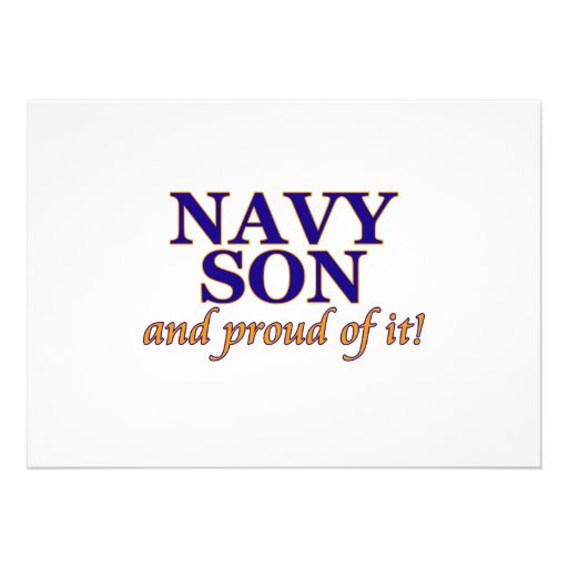 Navy Son and Proud of It Personalized Invites