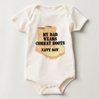 Navy Son Dad DCB Baby Bodysuit