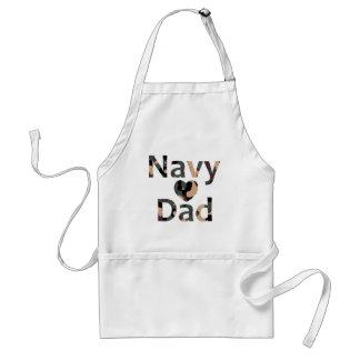 Navy Son Heart Camo Apron