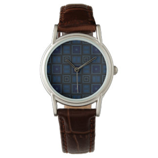 Navy Squares Wrist Watches