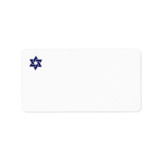 Navy Star of David Avery Address Label