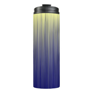 Navy Stripe Pattern Thermal Tumbler