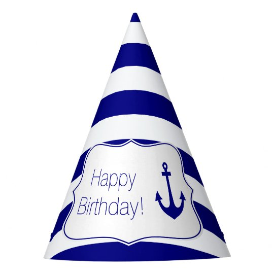 Navy Stripes and Nautical Anchor Birthday Party Party