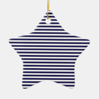Navy Stripes Christmas Ornament