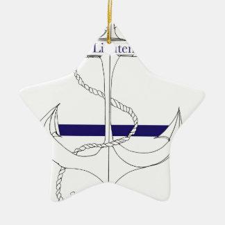 navy sub lieutenant, tony fernandes ceramic star decoration