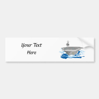 Navy Super Carrier Fighting Ship Bumper Stickers