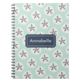 Navy & Teal Summer Sand Dollar Notebooks