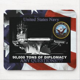 Navy Tons of Diplomacy Mouse Mat