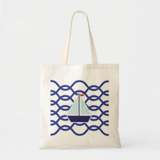 Navy tote bag