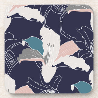 Navy Tropical Coaster Set