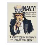 Navy!  Uncle Sam is calling you Print