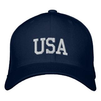 Navy USA Embroidered Baseball Cap