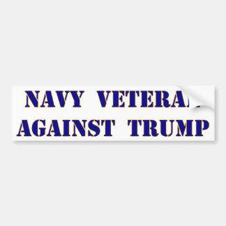 Navy Veteran Against Trump Bumper Sticker