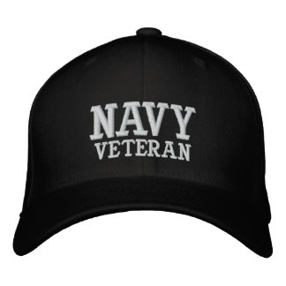 NAVY VETERAN EMBROIDERED HATS