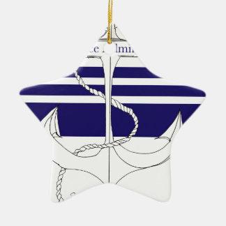 navy vice admiral, tony fernandes ceramic star decoration