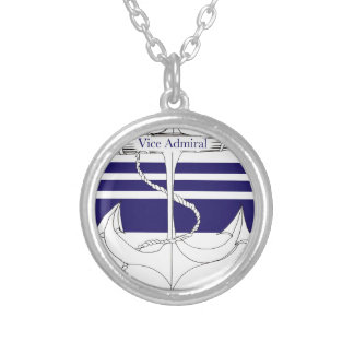navy vice admiral, tony fernandes silver plated necklace