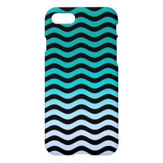 Navy Wavy Stripes Nautical Pattern iPhone 7 Case