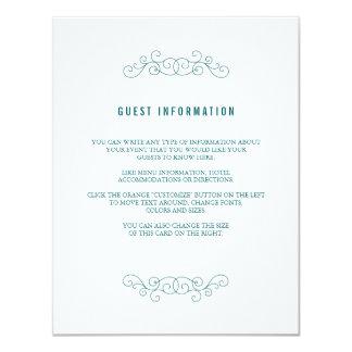 Navy Wedding Insert Card